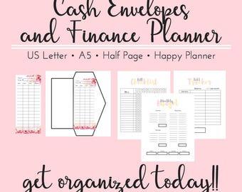 PRINTABLE Cash Envelopes and Budget Planner, Dave Ramsey Printable, Cash Envelope System, Budget Envelopes, Debt Snowball Planner, Budget