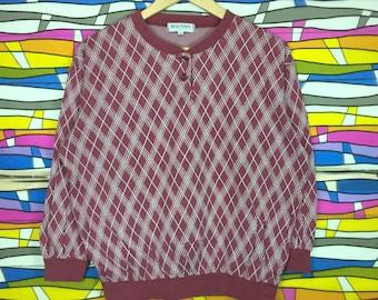 Rare!! BALMAIN Sweatshirt Crewneck Red Colour Large size women