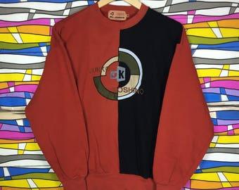 Rare!! Vintage MR JUNKO Big Logo Spellout Embroidery Sweatshirt Medium Size