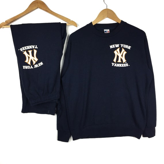 Tracksuit Sweatshirt YANKEES york Pullover Rare Jumper Nice LL Size gift New design awxC71It