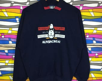 Rare!! Vintage MUNSINGWEAR Big Logo Spellout Sweatshirt