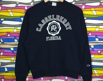 Rare!! Vintage CHAMPION Big Logo Spellout Medium Size Sweatshirt florida