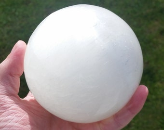 Large Selenite Sphere 96mm / 3.78 inches