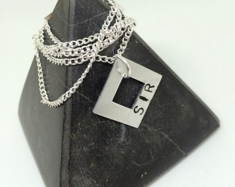 Submission, Sir Necklace, Master Gift, mens necklace, sirs gift,  bdsm necklace, bdsm gift, bdsm jewellery, bdsm, ddlg, submissive, Dominant