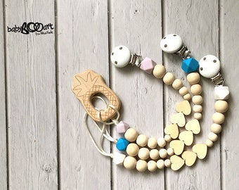 pacifier clip+wooden toy | wooden pacifier clips | Dummy clip | Binky Clip | Baby Girl  | Baby boy| pacifier clip | wooden pacifier holder