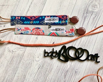 Pacifier clip set  Binky Dummy Soother Clip    3 pacifier clips   soother clip   dummy clip   pacifier holder   Aztec baby clip