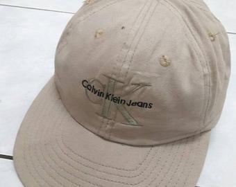 788072f0c24 ON SALE Vintage Calvin Klein CK Hat dad Cap