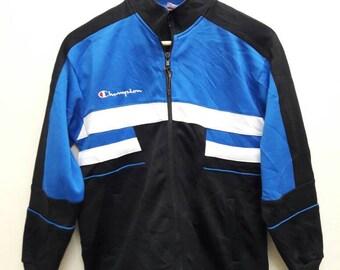 Vintage Champion Big Logo Jacket multicolour sports Small size