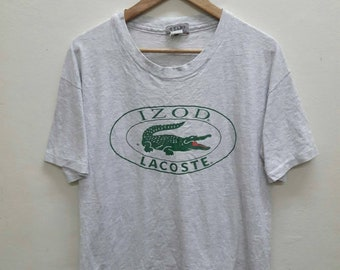 Vintage Izod Lacoste Big Logo tshirts Made USA Large Size