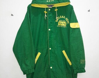 Bayleaf Parka Clothes Sport Jacket hoodie Athletic Dept. Green Yellow