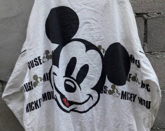 Vintage Mickey Mouse Jacket Large Size hip hop swag snap button walt Disney Large size