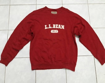 Vintage LL Bean Sweatshirts Red