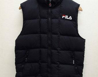 Vintage FILA puffer Jacket Vest sleeveless Small size