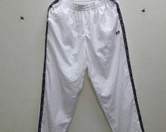 Vintage Fila Sport Jogger Track Pants size tape windbreaker White Color Medium size