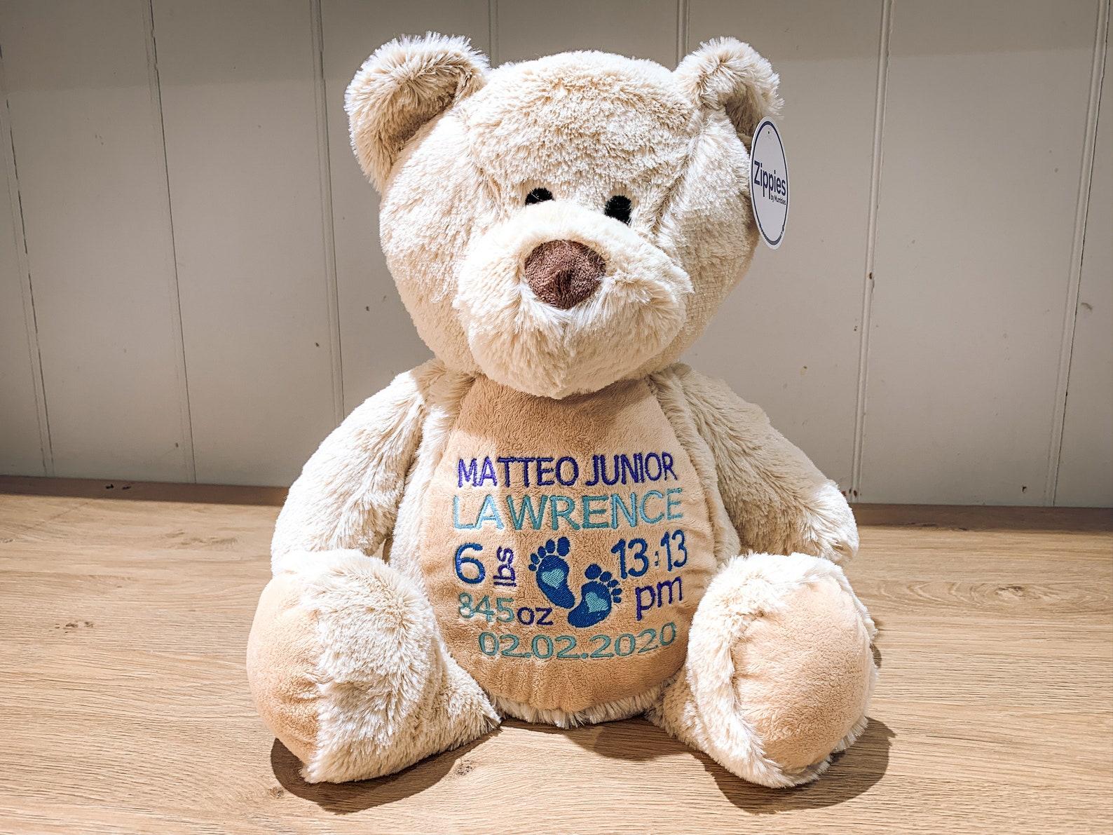 Personalised New Baby Teddy Bear