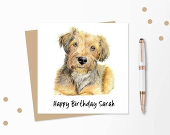 Dog Birthday Card Personalised Blank For Any Occasion Kids Or Adults