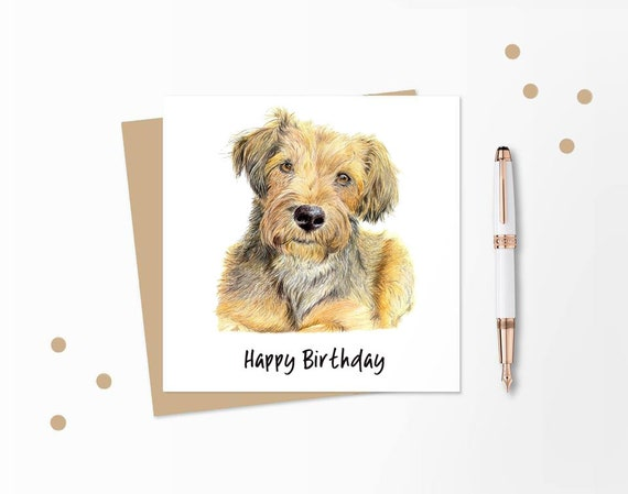 PERSONALISED in /& out GOLDENDOODLE BIRTHDAY ANY OCCASION CARD Illus Insert