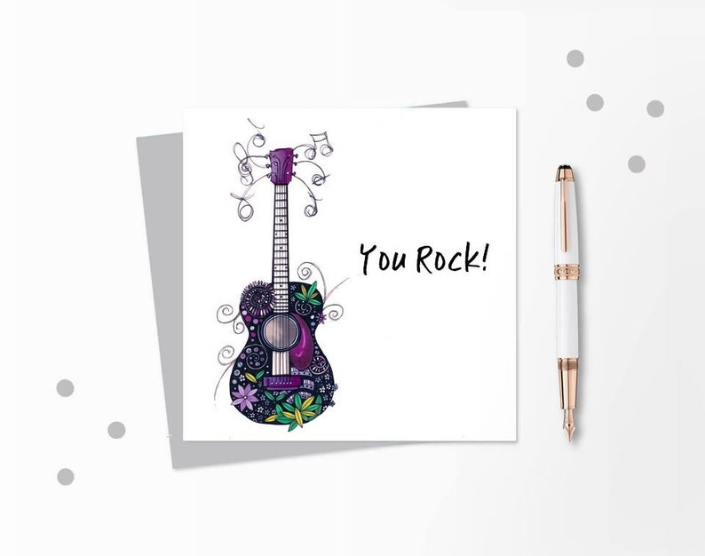 Guitar Card Music For Musician Birthday
