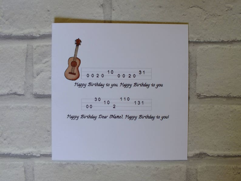 Ukulele Card Designs Birthday
