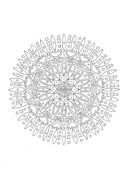 Mandala Färbung Seiten Färbung Muster Färbung Blätter   Etsy