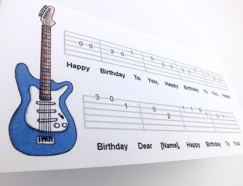 Guitar Card Music Birthday For Musician Guitarist Lover Electric