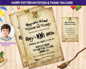 Harry Potter Invites Etsy