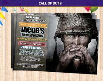 Call of duty birthday etsy call of duty ww2 birthday invitations call of duty birthday call of duty party filmwisefo