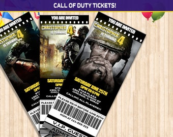 Call of duty invites etsy call of duty birthday ticket invitation call of duty party ticket invitation call of duty invite digital file printable ticket filmwisefo