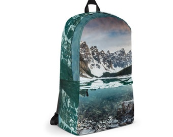 Waterproof Backpack, Nature Print Bohemian Backpack, Durable Medium Sized Laptop Backpack, Print Pocket Backpack, Lined Print Backpack Bag