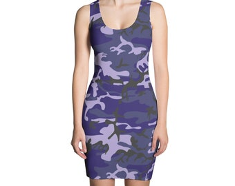 7f202efe16e Blue camo dress