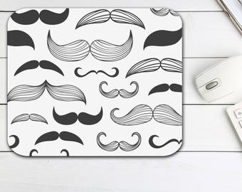 Hipster Mustache Mouse Pad, Mustache Tech Desk Office Computer Supplies,  Computer Mouse Pad Office Supplies, Neoprene Non Slip Mouse Pad