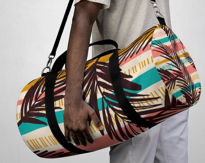 Tropical Vacation Duffel Bag, All Over Print Oxford Canvas Duffel Bag, Large Yoga Gym Bag, Carry On Luggage, Summer Travel Weekender Bag,