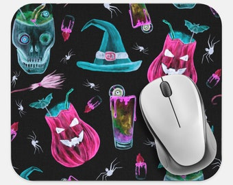 Holiday Neoprene Non Slip Mouse Pad Tech Desk Computer Mouse Pad Office Supplies Halloween Stars Mouse Pad Halloween Mouse Pad
