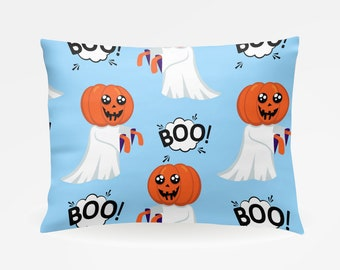 Halloween Pillowcase, Pumpkins Ghosts Holiday Standard Pillowcase 30x20in, Standard Bedding Pillow Case, Home Furnishings, Custom Pillowcase