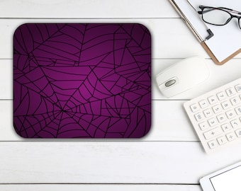 Halloween Mouse Pad, Spiderweb Mouse Pad, Tech Desk Office Computer Mouse Pad Office Supplies, Holiday Decor, Neoprene Non Slip Mouse Pad