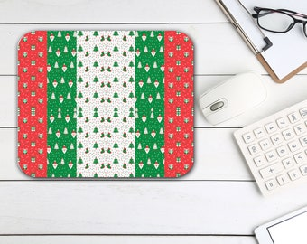 Christmas Tree Stars Mouse Pad, Tech Desk Office Desk Accessories, Custom Computer Office Supplies, Holiday Neoprene Non Slip Mouse Pad