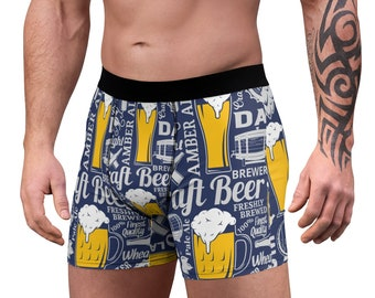 Men's Boxer Briefs, Beer Alcohol Boxer Briefs, Mens Underwear, Boxer Brief Underwear, Mens Briefs, Craft Beer Clothing Apparel, Mens Gift