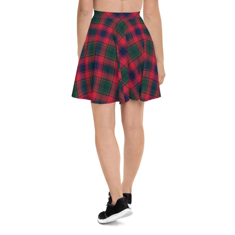 Women/'s Skater Skirt Tartan Holiday Skirt All Over Print Skirt Christmas Buffalo Plaid Winter Skirt Stretch Circle Skirt XS-3XL Size