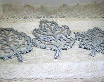 3pc Leaf / Leaves Metal Cutting Die Card Making Scrapbooking