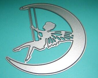 Fairy Swinging on the Moon Metal Cutting Dies