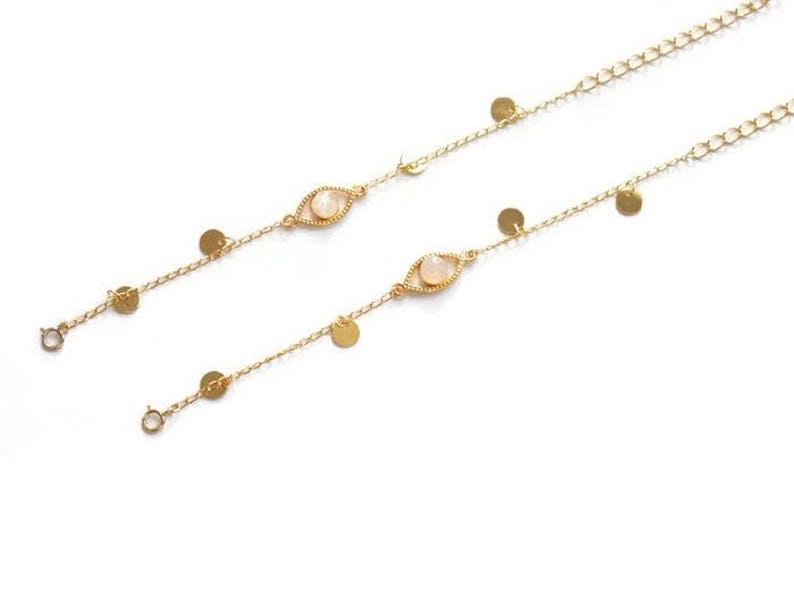 Bracelet oeil lucky eye boho gemstone birthstone raw