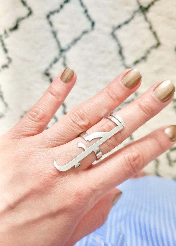Arabic Ring Bague Love الحب