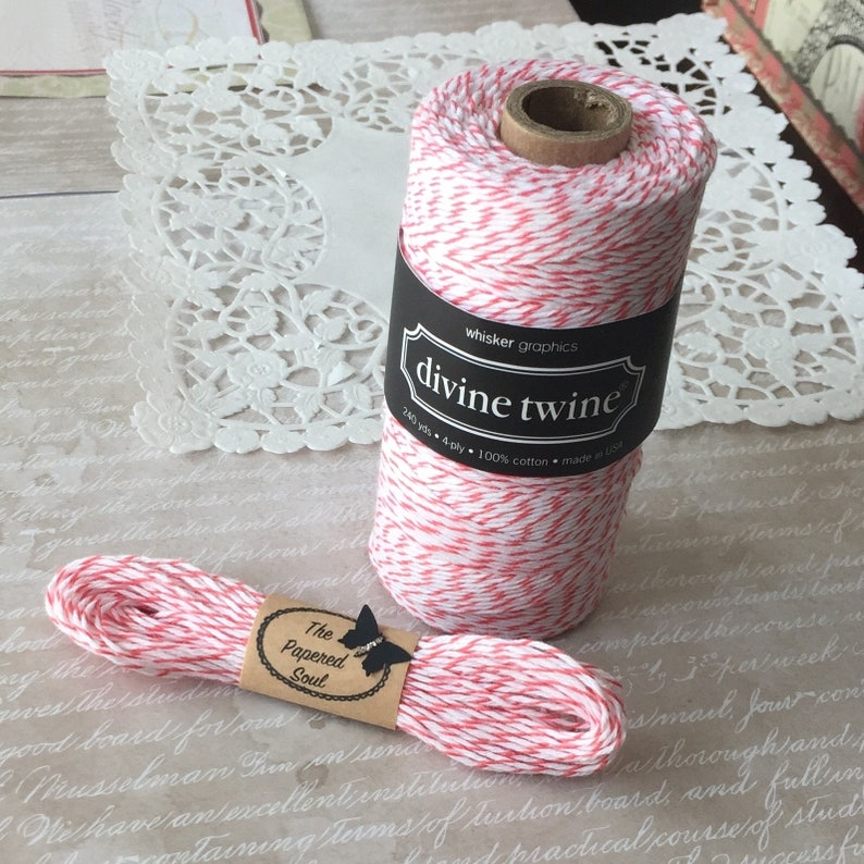 Black Baker/'s Twine 10 Yards of Black and White Striped Baker/'s Twine Divine Twine Made in the USA 4 Ply Quality Crafting Twine Licorice