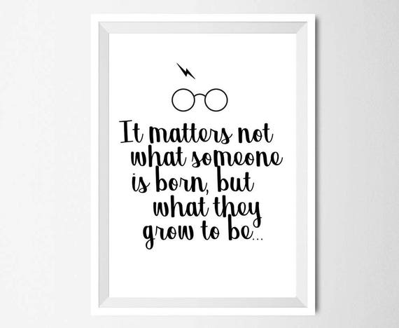 harry potter quote print j k rowling inspirational quote