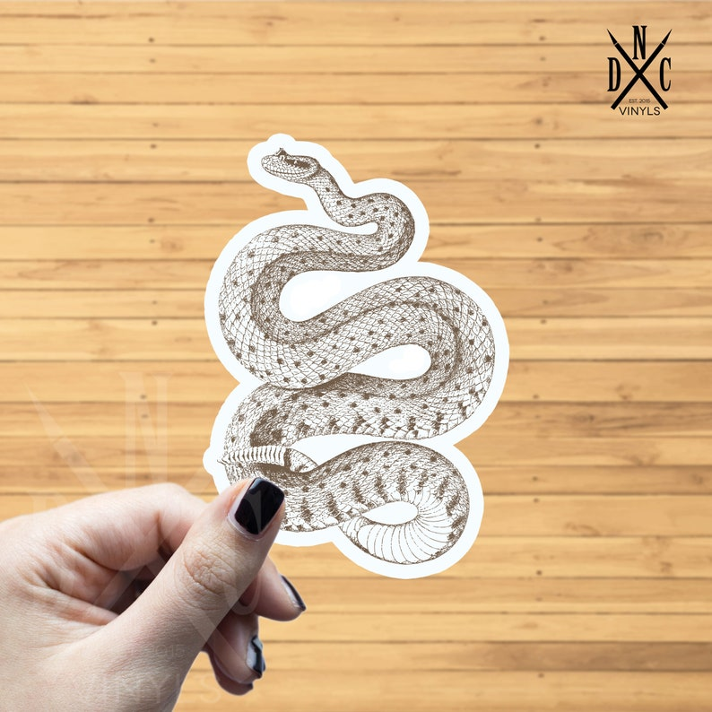 RATTLESNAKE Vinyl Decal Sticker Car Window Wall Bumper Macbook Laptop Snake