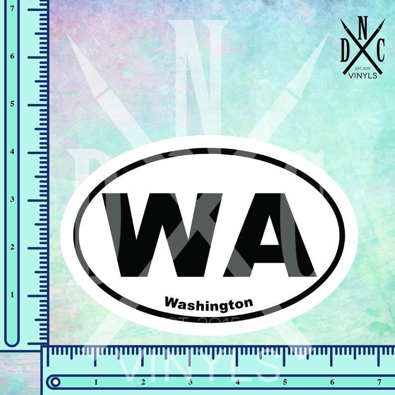 Vinyl Sticker for the Car Office Wall Laptop State Stickers Washington WA Euro Oval Bumper Sticker Adventure Stickers