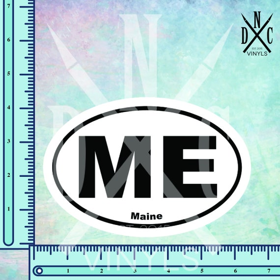 Maine Euro Oval Bumper Sticker    2.5/""