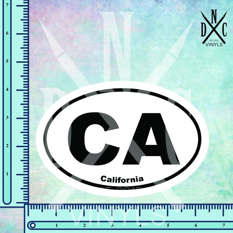 "California State Green Oval car window bumper sticker decal 5/"" x 3/"""