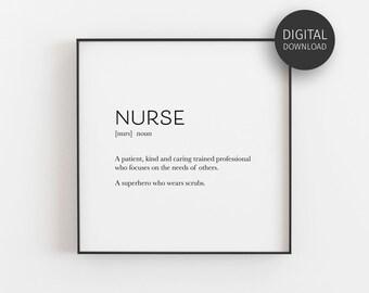 graphic regarding Printable Nurses Week Games named Nurse appreciation Etsy