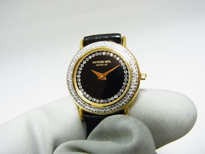 Raymond Weil Geneve Ladies Watch 18k Gold Plated Vintage Etsy